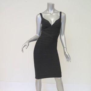 Herve Leger Bandage Dress Black Size Small